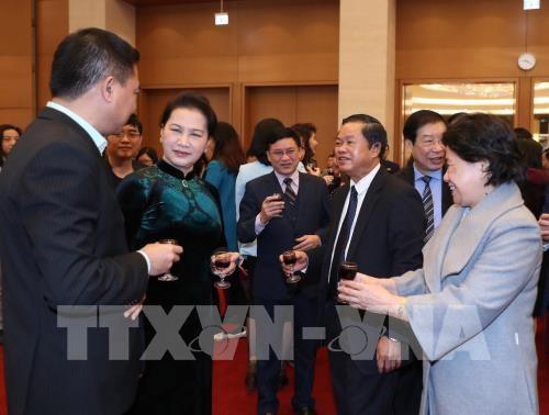 Des dirigeants poursuivent leurs visites du Nouvel an lunaire hinh anh 1
