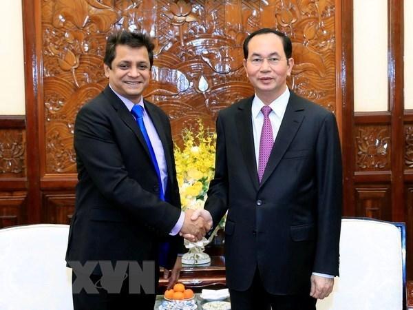 Le president Tran Dai Quang appelle les entreprises indiennes a investir au Vietnam hinh anh 1