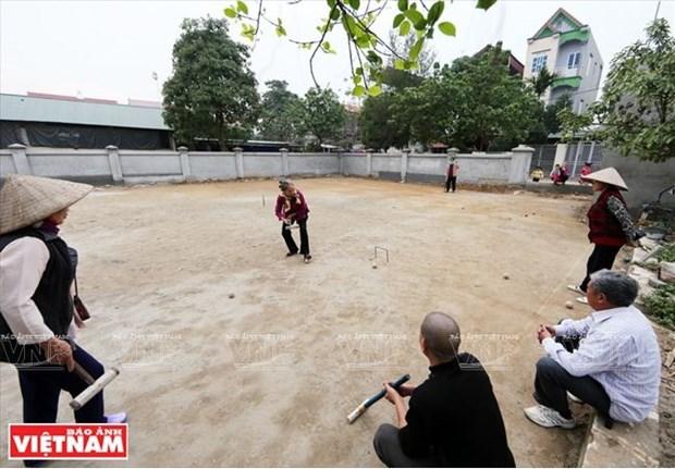 Au club de croquet du village de Xuan Bach hinh anh 1