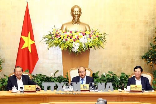 Le PM appelle a favoriser les activites des entreprises des le debut de l'annee hinh anh 1