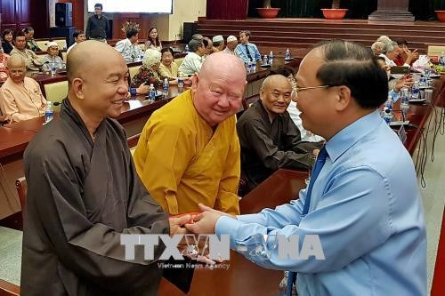 Ho Chi Minh-Ville rencontre 200 membres d'ethnies minoritaires hinh anh 1