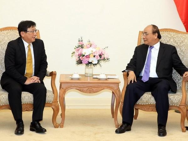 Le Premier ministre Nguyen Xuan Phuc recoit le president du groupe Sojitz (Japon) hinh anh 1