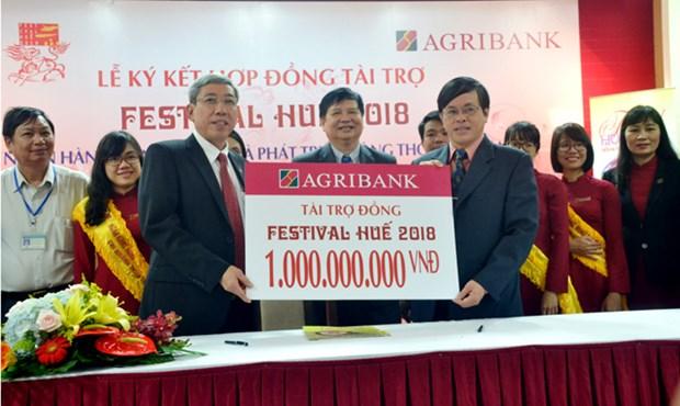 Agribank accorde un milliard de dongs pour Festival de Hue 2018 hinh anh 1