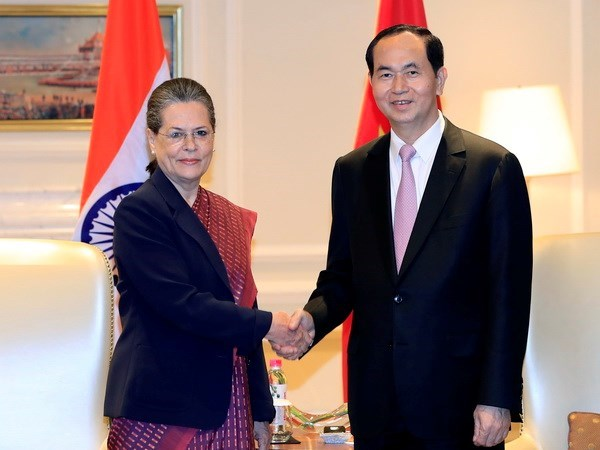 Activites du president Tran Dai Quang en Inde hinh anh 1