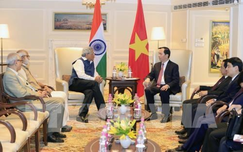 Le president vietnamien exhorte a impulser le partenariat strategique integrale Vietnam-Inde hinh anh 1