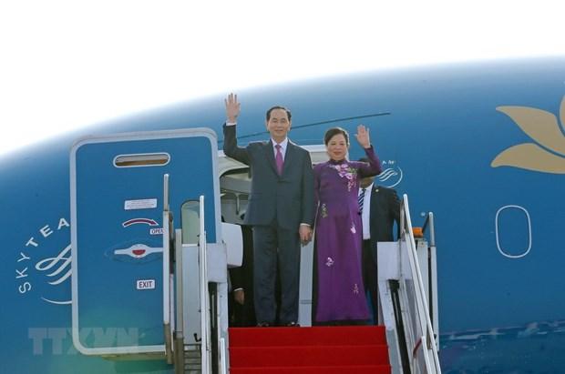 Le president vietnamien entame une visite d'Etat au Bangladesh hinh anh 1