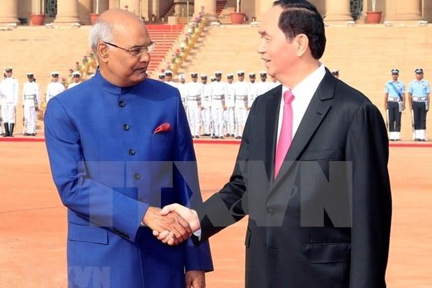 Vietnam-Inde : les deux presidents affirment approndir les liens hinh anh 1