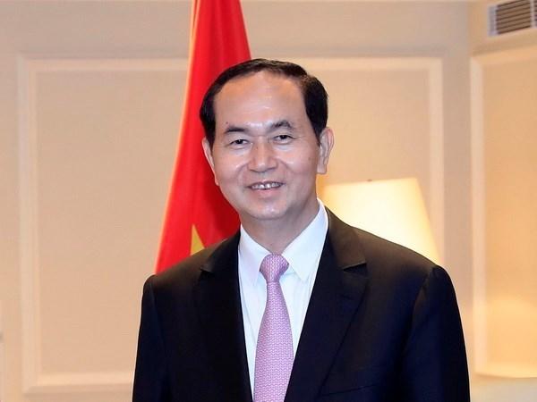 Le president Tran Dai Quang souligne le grand potentiel de cooperation Vietnam-Bangladesh hinh anh 1