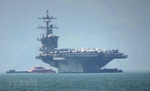 Da Nang accueille le porte-avions USS Carl Vinson hinh anh 1