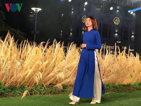 Ho Chi Minh-Ville : Defile d'ao dai en tant qu'uniforme de bureau hinh anh 1
