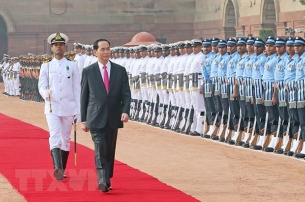 Succes des visites d'Etat en Inde et au Bangladesh du president Tran Dai Quang hinh anh 1