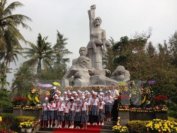 Quang Ngai: bientot un parc commemoratif des victimes du massacre de My Lai hinh anh 1