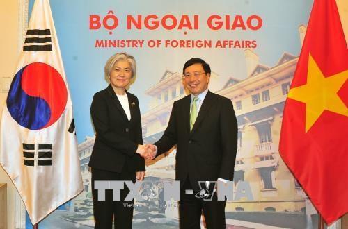 Vietnam-Republique de Coree : entretien entre les ministres des AE hinh anh 1