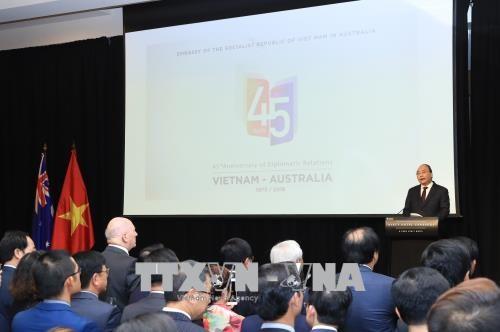 Diner de reception en l'honneur de l'anniversaire des relations Vietnam-Australie a Canberra hinh anh 1