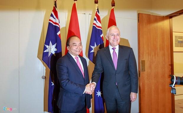 Ceremonie d'accueil officielle du PM Nguyen Xuan Phuc en Australie hinh anh 1