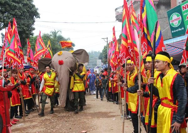 Au cœur de la procession de l'elephant dans le village de Dao Xa hinh anh 2