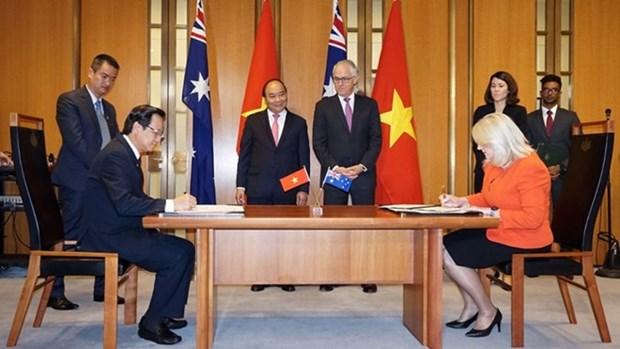 Le Vietnam et l'Australie signent un memorandum dans la formation professionnelle hinh anh 1