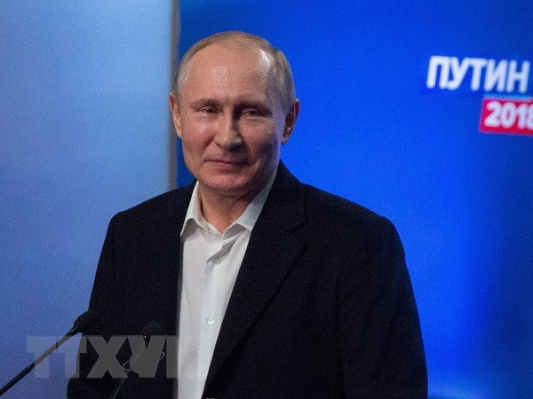 Message de felicitations du president Tran Dai Quang a son homologue russe Vladimir Poutine hinh anh 1