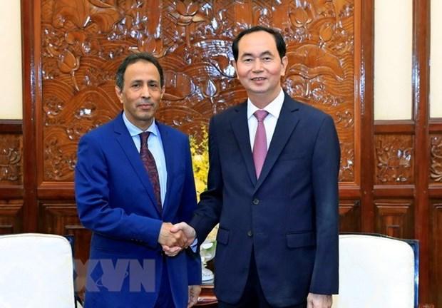Le president recoit l'ambassadeur sortant d'Arabie saoudite hinh anh 1