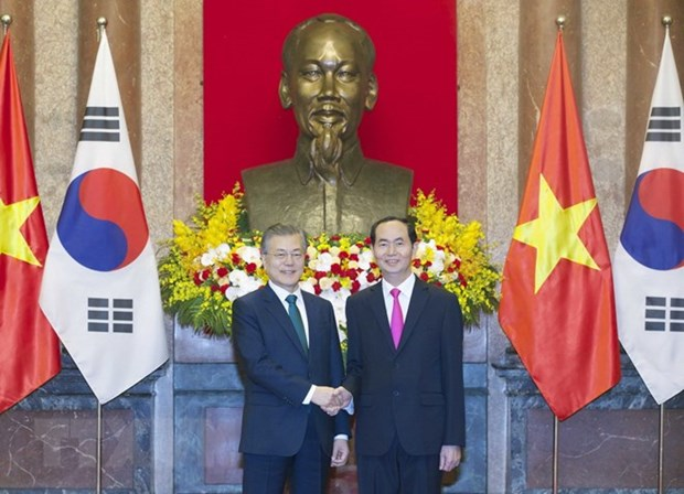Le Vietnam souhaite resserrer ses relations avec la R. de Coree pour un developpement durable hinh anh 1
