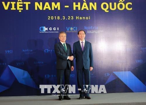 Le president sud-coreen termine sa visite d'Etat au Vietnam hinh anh 1