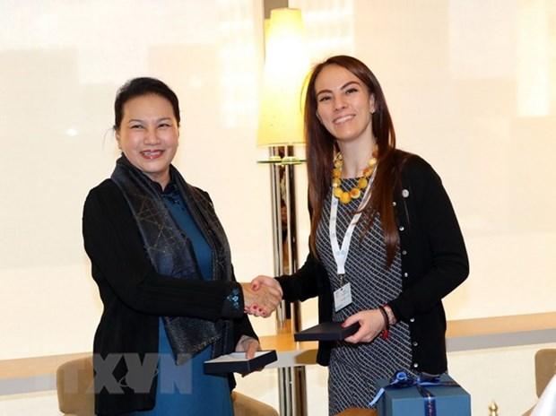 Nguyen Thi Kim Ngan rencontre la presidente de l'UIP hinh anh 1
