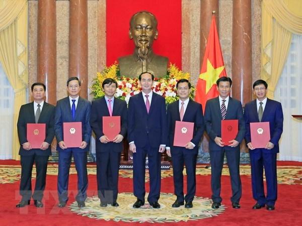 Le president Tran Dai Quang nomme de nouveaux ambassadeurs hinh anh 1
