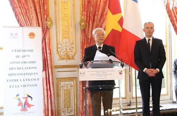 Celebration du 45e anniversaire des relations Vietnam-France a Paris hinh anh 1