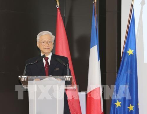 Le secretaire general du PCV rencontre des entreprises francaises hinh anh 1