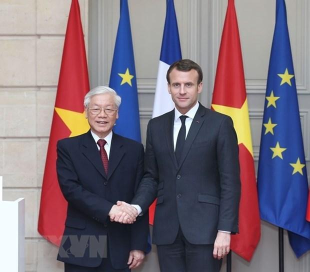 Le Vietnam et la France publient une declaration commune hinh anh 1