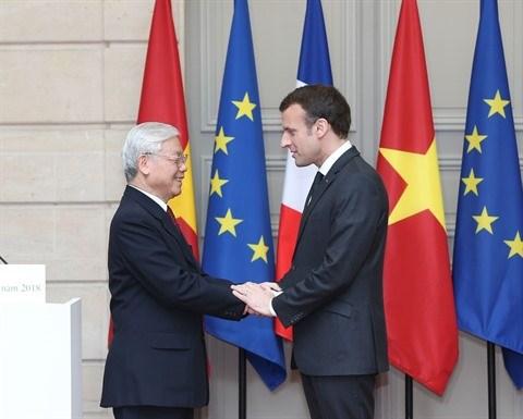 Le leader du PCV remercie le president francais pour son accueil hinh anh 1