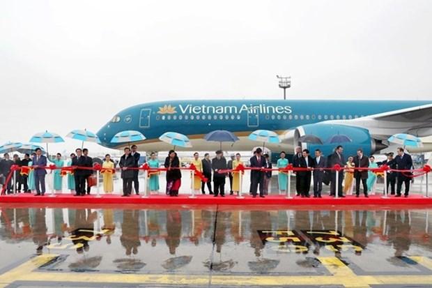 Le secretaire general Nguyen Phu Trong assiste a la livraison d'un avion A350 en France hinh anh 1