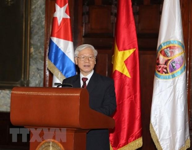 Cuba decerne le titre docteur honoris causa en science politique au leader du PCV hinh anh 2