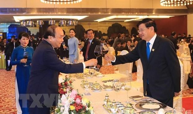 Diner de reception a l'occasion de GMS-6 et CLV-10 hinh anh 1
