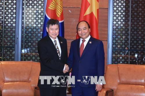 Le PM recoit le secretaire general de l'ASEAN hinh anh 1