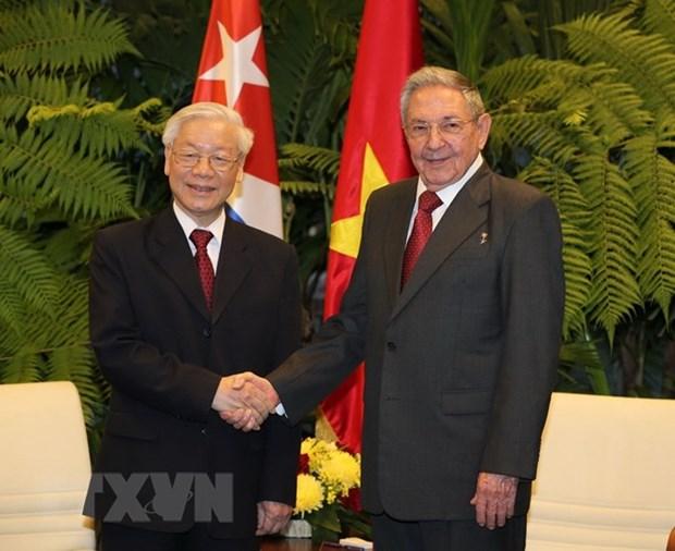 Message de remerciement du leader du PCV a Raul Castro Ruz hinh anh 1