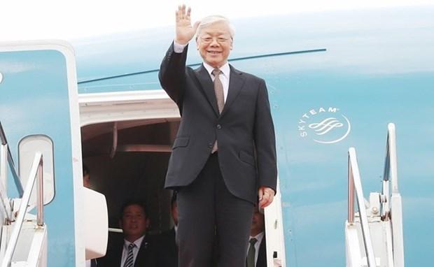 Le leader du PCV Nguyen Phu Trong termine avec succes ses visites en France et a Cuba hinh anh 1