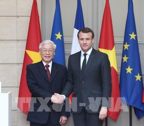 Les visites du leader du PCV dynamisent les liens avec la France et Cuba hinh anh 1
