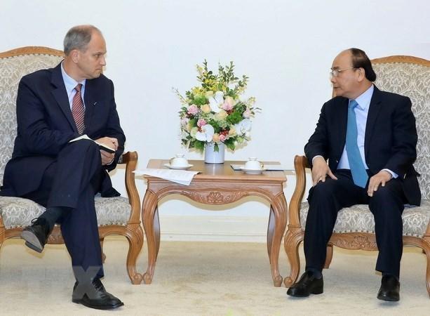 Le chef du gouvernement recoit l'ambassadeur d'Allemagne au Vietnam hinh anh 1