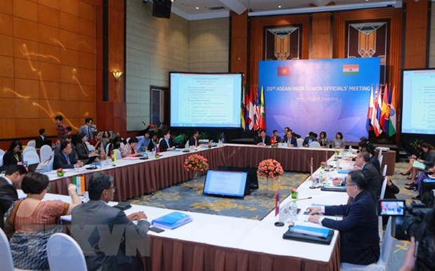 Reunion de hauts officiels de l'ASEAN-Inde a Hanoi hinh anh 1