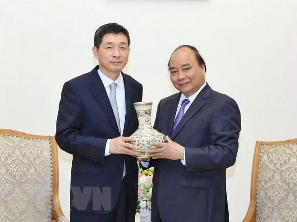 Le Premier ministre souligne les relations fructueuses entre le Vietnam et la R. de Coree hinh anh 1