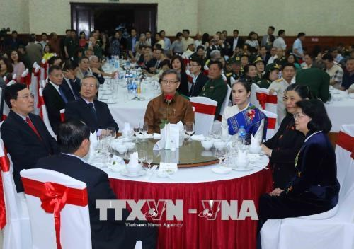 Le Nouvel An traditionnel du Laos celebre a Hanoi hinh anh 1