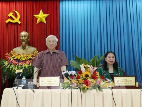 Le secretaire general du Parti en tournee a An Giang hinh anh 1