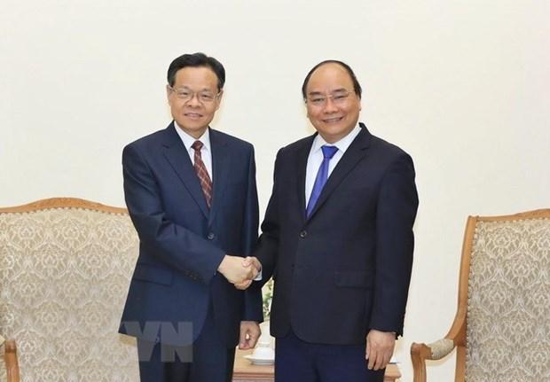 Le PM recoit le president de la region autonome Zhuang du Guangxi hinh anh 1