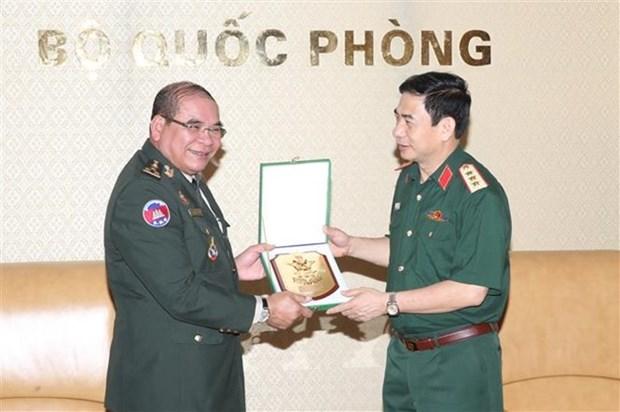 Vietnam et Cambodge renforcent leur cooperation dans le travail frontalier hinh anh 1