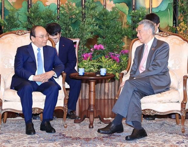 Le Vietnam et Singapour publient une declaration commune hinh anh 1