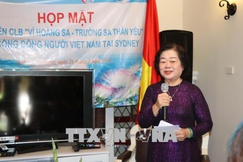 L'ancienne vice-presidente Truong My Hoa rencontre des expatries vietnamiens en Australie hinh anh 1