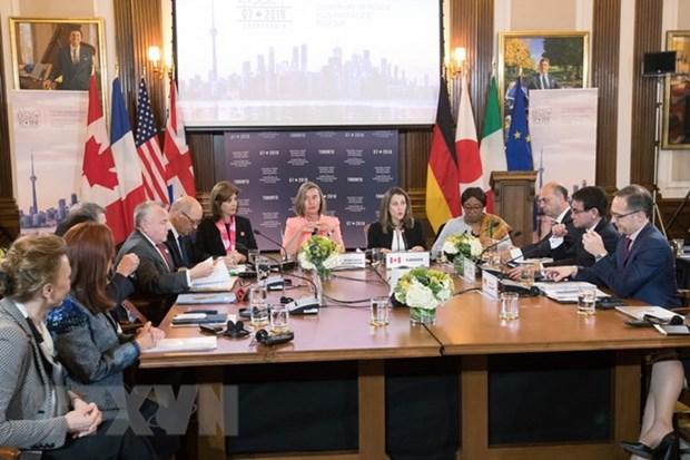Les ministres des AE du G7 preoccupes par la situation en Mer Orientale (mer de Chine meridionale) hinh anh 1