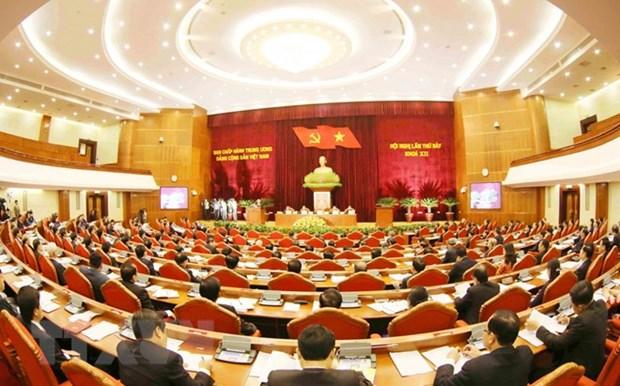 Premiere journee de travail du 7e Plenum du Comite central du Parti (XIIe exercice) hinh anh 1