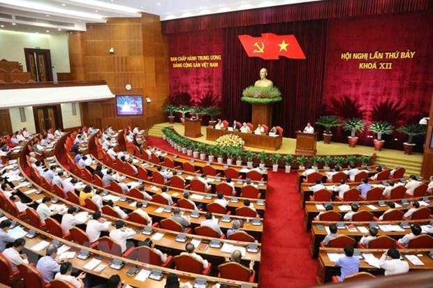 Le 7e Plenum du Comite central du Parti termine sa deuxieme journee de travail hinh anh 1